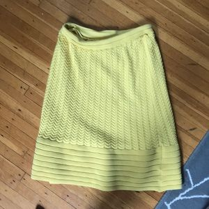 NWOT Midi yellow pencil skirt